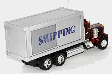 New shipping truck